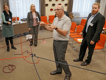 Dr. Walter Schoger beim Coach & Trainer Award: comforming Live-Demo