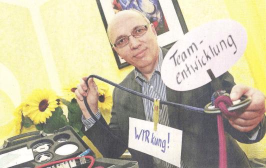 Dr. Walter Schoger, comformer und Entwickler des comforming im Fränkischen Tag