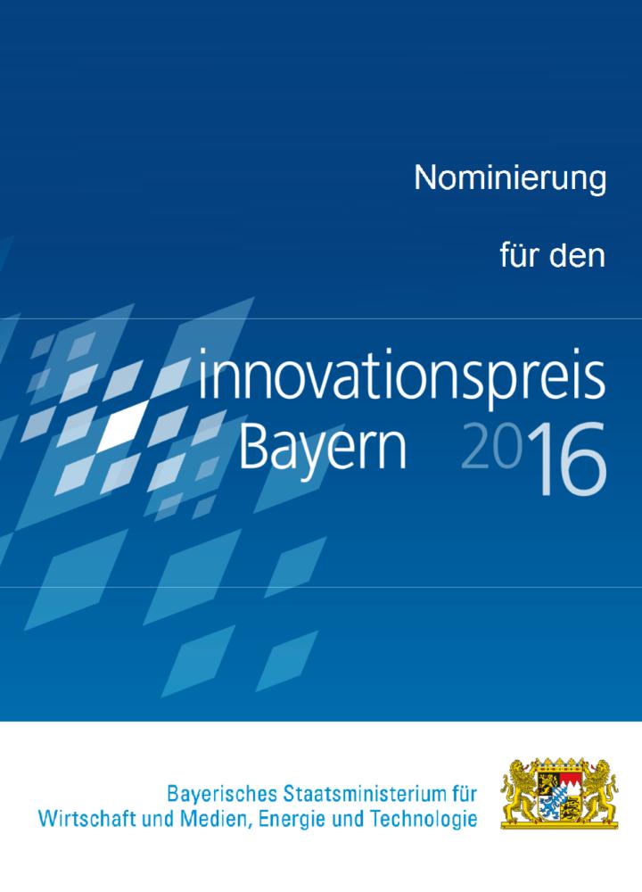 comforming für den Innovationspreis Bayern 2016 nominiert
