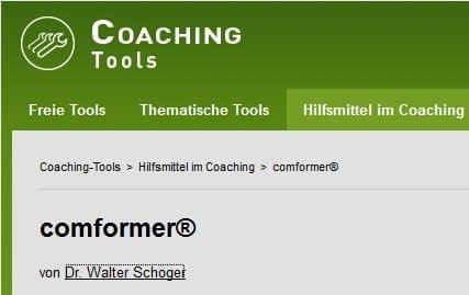 coaching-Tool comformer: comforming als Coaching-Hilfsmittel auf RAUEN Coaching Tools
