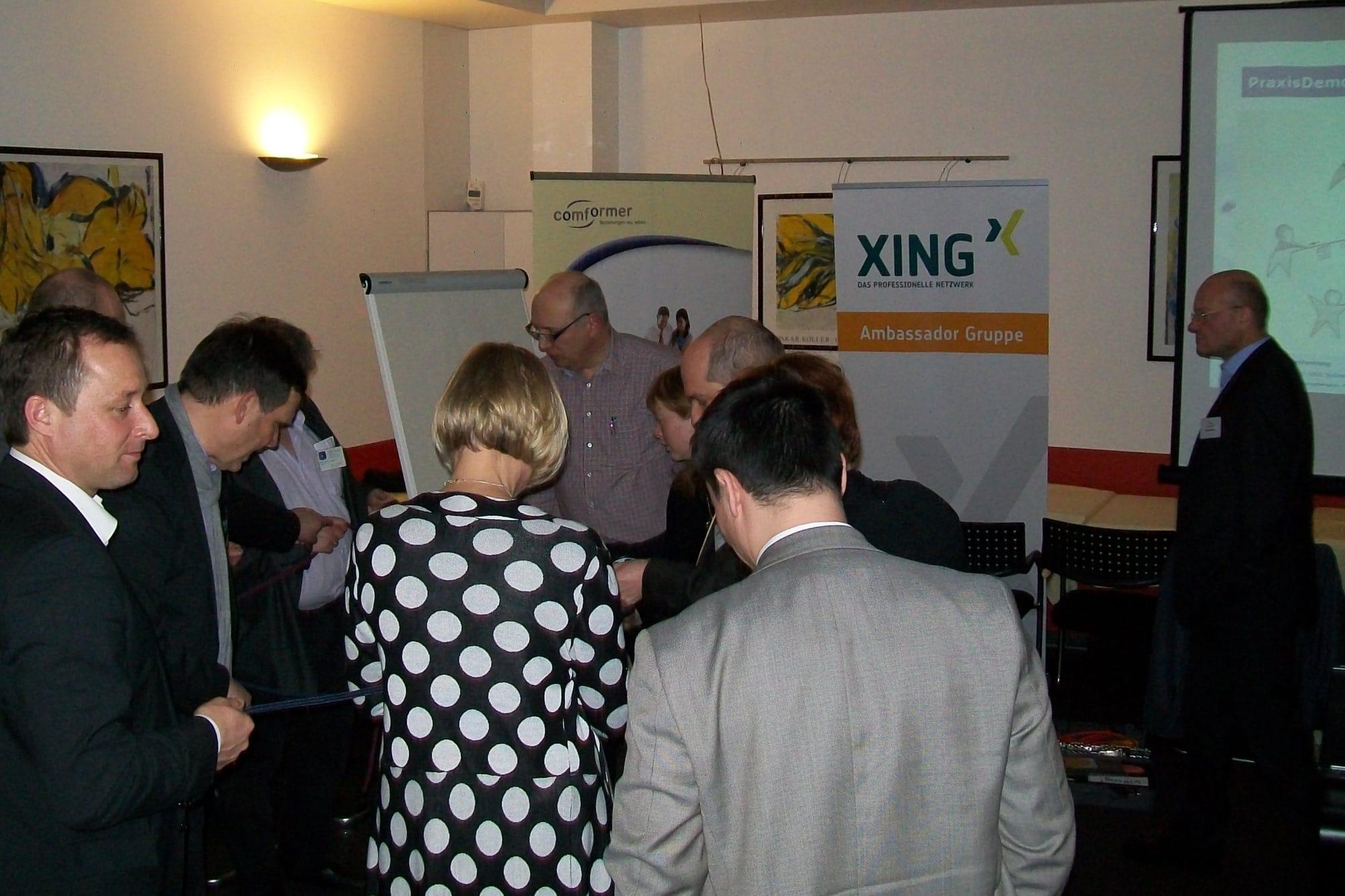 comforming Live-Demo zu Team-Koordination bei der XING-Ambassador Gruppe Nürnberg