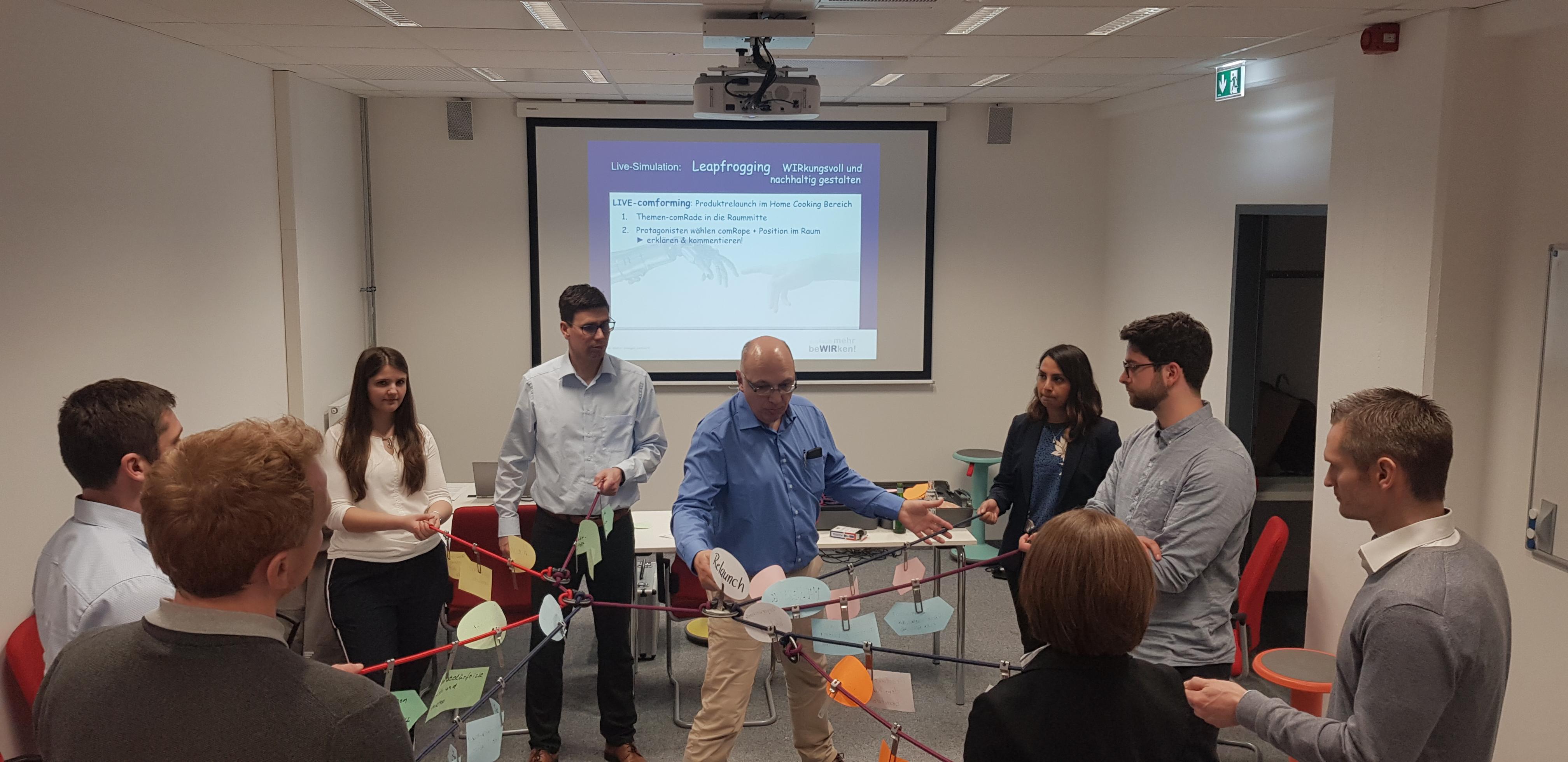 Leapfrogging. comforming-Live-Simulation für quer.kraft an der Friedrich-Alexander-Universität